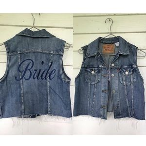 Levi BRIDE cropped vest wedding day cute country